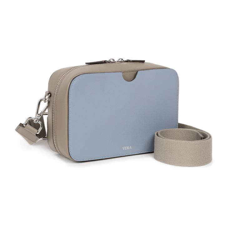 A Block with Canvas Strap in Boxy Blue