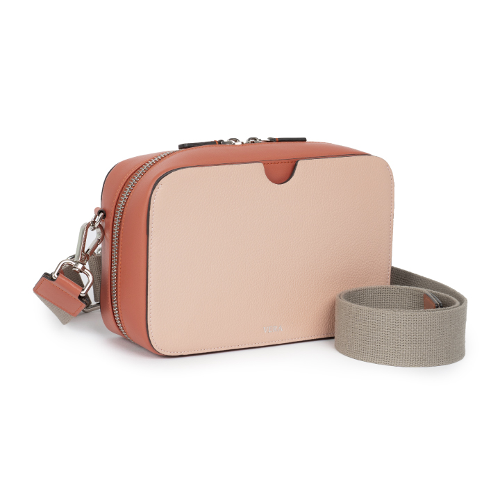A Block with Canvas Strap in Coral Brick