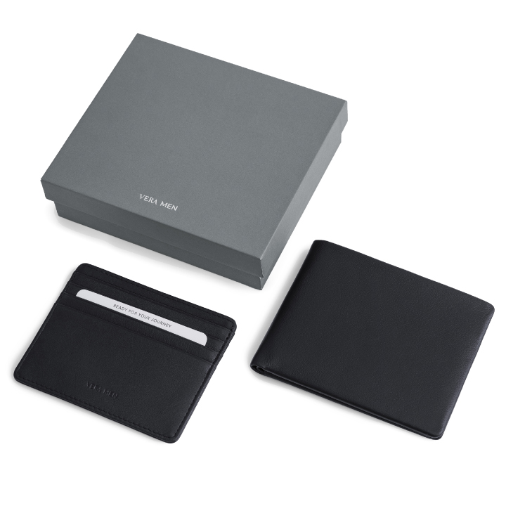 VERA MEN - Note Sleeve Wallet and Card Holder in Navy
