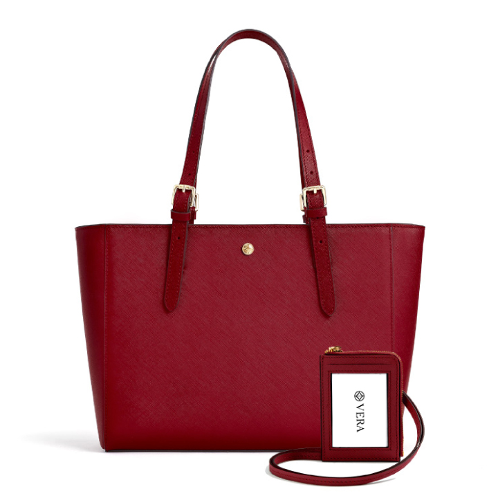 VERA The First Bag and Badge in Burgundy
